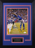 Odell Beckahm Autographed & Framed 8x10 Giants Photo Auto JSA COA Design-8C
