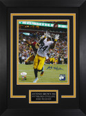 Antonio Brown Autographed & Framed 8x10 Steelers Photo Auto JSA COA Design-8C