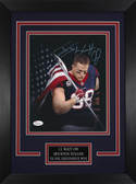 JJ Watt Autographed & Framed 8x10 Texans Photo Auto JSA COA Design-8C