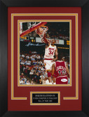 Hakeem Olajuwon Autographed & Framed 8x10 Rockets Photo Auto JSA COA Design-8C