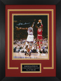 Hakeem Olajuwon Autographed & Framed 8x10 Rockets Photo Auto JSA COA Design-8C1