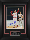 Pete Rose Autographed & Framed 8x10 Reds Photo Auto JSA COA Design-8C