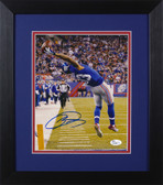 Odell Beckahm Autographed & Framed 8x10 Giants Photo Auto JSA COA Design-8E