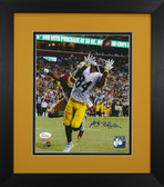 Antonio Brown Autographed & Framed 8x10 Steelers Photo Auto JSA COA Design-8E