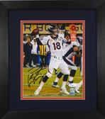 Peyton Manning Autographed& Framed 8x10 Broncos Photo Auto JSA COA Design-8E