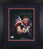 JJ Watt Autographed & Framed 8x10 Texans Photo Auto JSA COA Design-8E