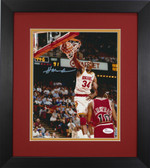 Hakeem Olajuwon Autographed & Framed 8x10 Rockets Photo Auto JSA COA Design-8E