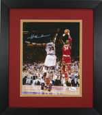 Hakeem Olajuwon Autographed & Framed 8x10 Rockets Photo Auto JSA COA Design-8E1