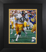 Jack Lambert Autographed & Framed 8x10 Steelers Photo Auto JSA COA Design-8E1