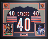 Gale Sayers Autographed and Framed Blue Chicago Chicago Bears Jersey JSA COA