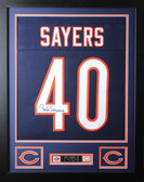 Gale Sayers Framed and Autographed Blue Chicago Bears Jersey Auto JSA COA
