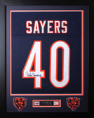 Gale Sayers Framed and Autographed Blue Bears Jersey Auto JSA COA D2-S