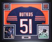 Dick Butkus Autographed & Framed Blue Chicago Chicago Bears Jersey JSA COA