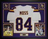 Randy Moss Autographed & Framed White Minnesota Vikings Jersey JSA COA