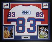 Andre Reed Autographed & Framed White Buffalo Buffalo Bills Jersey JSA COA