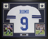 Tony Romo Autographed & Framed White Dallas Cowboys Jersey Beckett COA