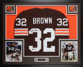 Jim Brown Autographed & Framed Cleveland Browns Jersey JSA COA