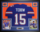 Tim Tebow Autographed & Framed Blue Florida Gators Jersey Tebow COA