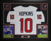 DeAndre Hopkins Autographed & Framed White Houston Texans Jersey JSA COA