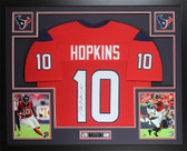 DeAndre Hopkins Autographed & Framed Red Houston Texans Jersey JSA COA