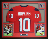 DeAndre Hopkins Autographed & Framed Red Houston Texans Jersey JSA COA D6-L