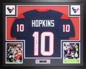 DeAndre Hopkins Autographed & Framed Blue Houston Texans Jersey JSA COA