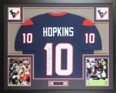 DeAndre Hopkins Autographed & Framed Blue Houston Texans Jersey JSA Certified
