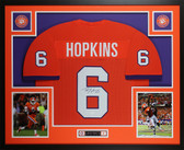 DeAndre Hopkins Autographed & Framed Orange Clemson Tigers Jersey JSA COA