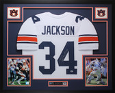Bo Jackson Autographed and Framed White Auburn Tigers Jersey Beckett Certified