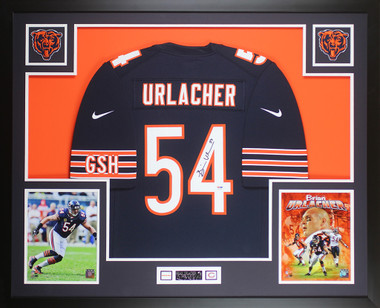 on sale 67f9c 0fc62 Brian Urlacher Autographed and Framed Blue Bears Jersey