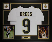 Drew Brees Autographed & Framed White New Orleans Saints Jersey Beckett COA