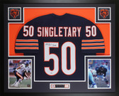 Mike Singletary Autographed & Framed Blue Chicago Bears Jersey Beckett COA