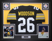 Rod Woodson Autographed & Framed Black Pittsburgh Steelers Jersey Auto PSA COA