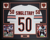 Mike Singletary Autographed & Framed White Chicago Bears Jersey Auto PSA COA