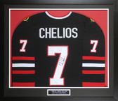 Chris Chelios Autographed & Framed Chicago Blackhawks Jersey Auto JSA COA