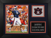 Cam Newton Autographed & Framed 8x10 Auburn Tigers Photo PSA COA D-8A