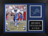 Barry Sanders Autographed & Framed 8x10 Detroit Lions Photo PSA COA D-8A