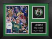 Larry Bird Autographed & Framed 8x10 Boston Celtics Photo PSA COA D-8A1