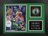 Larry Bird Autographed & Framed 8x10 Boston Celtics Photo PSA COA D-8A1