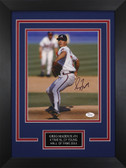 Greg Maddux Autographed & Framed 8x10 Atlanta Braves Photo Auto JSA COA D-8C