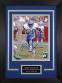 Barry Sanders Autographed & Framed 8x10 Detroit Lions Photo PSA COA D-8C