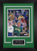 Larry Bird Autographed & Framed 8x10 Boston Celtics Photo PSA COA D-8C1