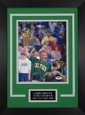 Larry Bird Autographed & Framed 8x10 Boston Celtics Photo PSA COA D-8C1