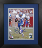 Barry Sanders Autographed & Framed 8x10 Detroit Lions Photo PSA COA D-8E