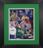 Larry Bird Autographed & Framed 8x10 Boston Celtics Photo PSA COA D-8E1
