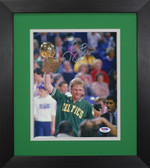 Larry Bird Autographed & Framed 8x10 Boston Celtics Photo PSA COA D-8E1
