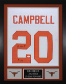 "Earl Campbell Autographed ""HT 77"" & Framed White Texas Longhorns Jersey JSA COA"