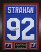 Michael Strahan Autographed & Framed Blue New York New York Giants Jersey JSA COA