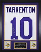 "Fran Tarkenton Autographed ""HOF 86"" & Framed White Minnesota Vikings Jersey JSA COA"