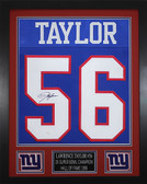 Lawrence Taylor Autographed & Framed Blue New York New York Giants Jersey JSA COA